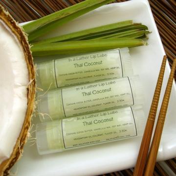 Handmade Lip Balm flavored with Thai Coconut