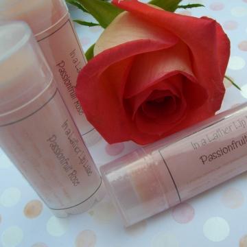 Passionfruit Rose Handmade Vegan Lip Balm